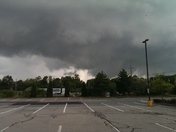 Rotating cloud, pulling clouds from bottom taken at 5:45 in North Attleboro