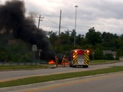 Car Fire - Lakeside Park KY