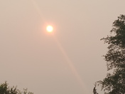 Hazy sky from Canadian fires, Glenwood view