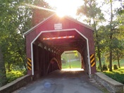 Covered Bridge Sunset