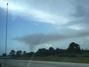 smoke from brush fire looks like a tornado