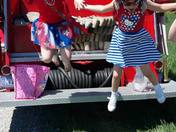 Little Miss Fairchance and Junior Miss Fairchance in Memorial Day Parade