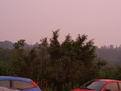 A little haze in Glenwood. Sky is pink. Not as bad as DesMoines yet.