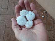 Quarter size hail in Santa Fe County
