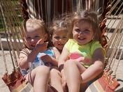 Reagan,Andi and Paisley Darois cousins having fun at Sunrise Lake Middleton,NH