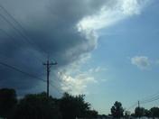 half sunny, half stormy