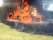 Fire on I-35