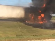 Truck fire video