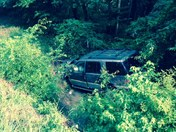 Single car accident on Hwy 28, 4 miles west of  Georgetown , 1 airlifted to UMC,