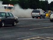 SUV on Fire