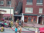 Fire on Main Street, Lake Placid
