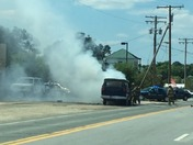 Van fire in Lothain MD