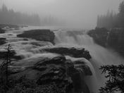 Athabasca Falls Misty Morning