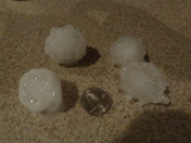 Big storm with big hail in West Bend