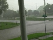 Hail and strong rain and wind