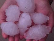 Hail in Wind Lake!
