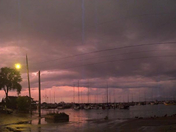 storms with the pink sky.