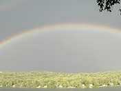Double rainbow on Perkins pond in Sunapee, nh