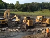 Greenwood Park - operation to remove stuck front end loader