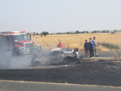 Freeway Fire on I- 5 South of the Sacramento Airport
