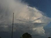 Storm cloud headed south around Shattuck