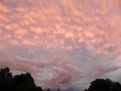 Last nights sunset clouds