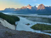 Misty Morning on the Athabasca River
