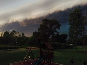 Storm rolling into to Bristol