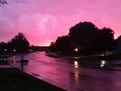 Pink sky after the storm in Sussex