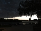 Storm front moving in over Brown's Lake