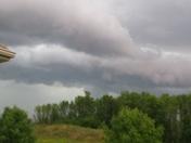 Sky just before the thunder storms hit Sheboygan Falls  at 5:55 pm.
