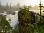 Daybreak at Athabasca Falls