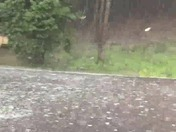 Hail and wind