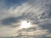 Unusual clouds at sunset near Red Oak Iowa