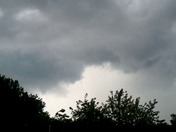 Storm clouds over Oskaloosa.