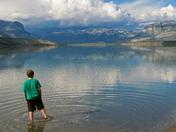 Boy at Jasper Lake