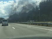 Explosion of Car at Exit 11 Toll Booth