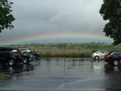 Rainbow at Concord Airport after Friday Afternoon Storm