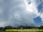 T-Storms moving over Houma from the Gulf @ noon 08-21-2015