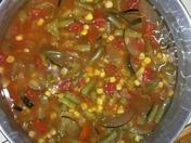 green Chile with calavasitas stew