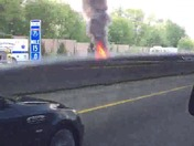 Car on Fire on I-71 South