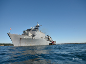 USS Fort McHenry anchored