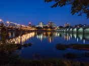 City lights along the Susquehanna
