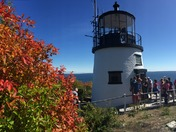 Fall color at Owls Head Light on Maine Lighthouse Day.