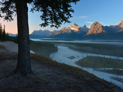 Athabasca River and Mount Chrisite