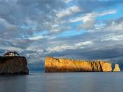 Perce rock at sunset
