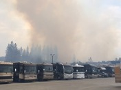 Fire behind DeMartini RV Sales