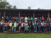Glenview Middle School 7th gr field trip to Camp Leopold