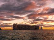 Percé rock at sunrise