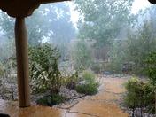 Hailstorm in Sandia Park